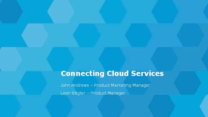 Tibco Connecting Cloud Services