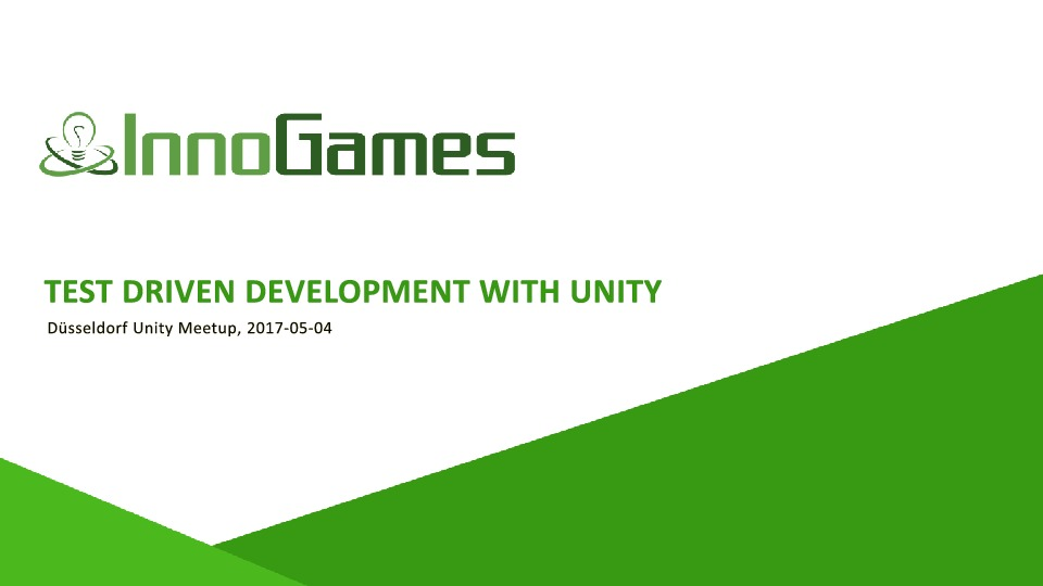 Test Driven Development with Unity