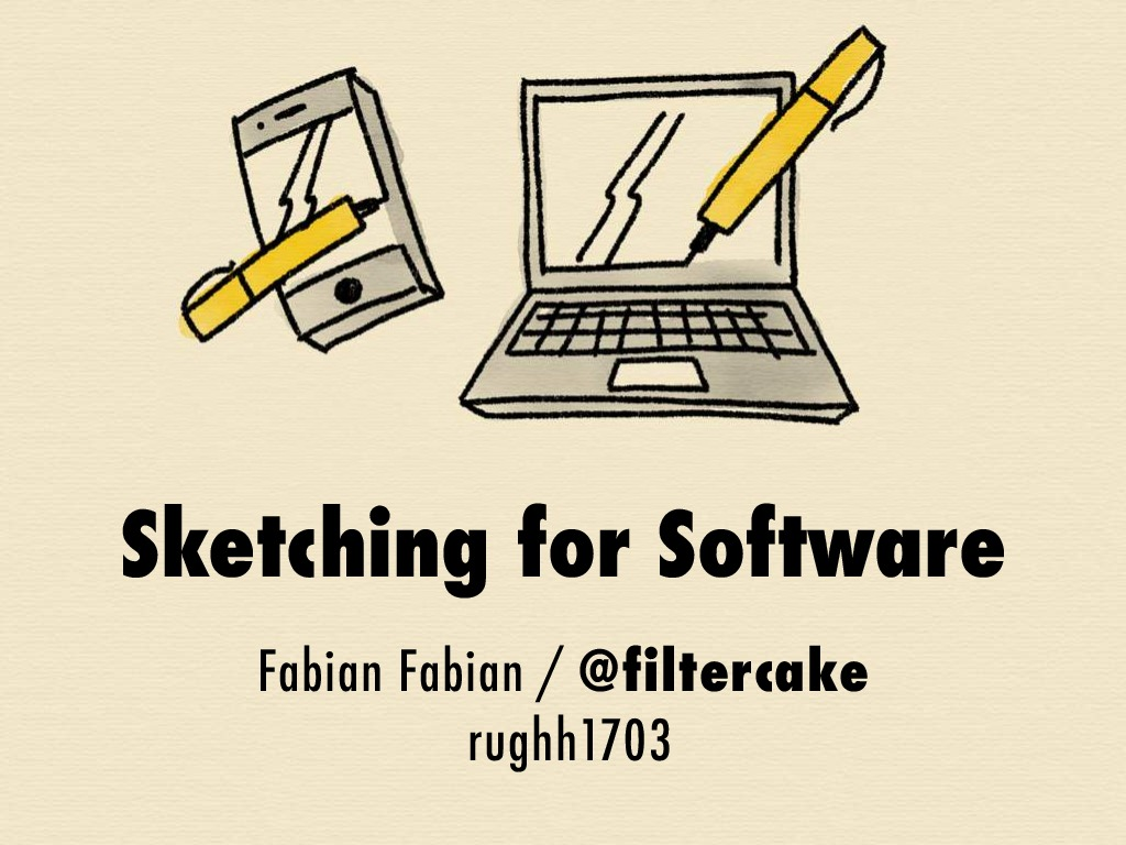 Sketching for Software @ Ruby UG Hamburg March 2017