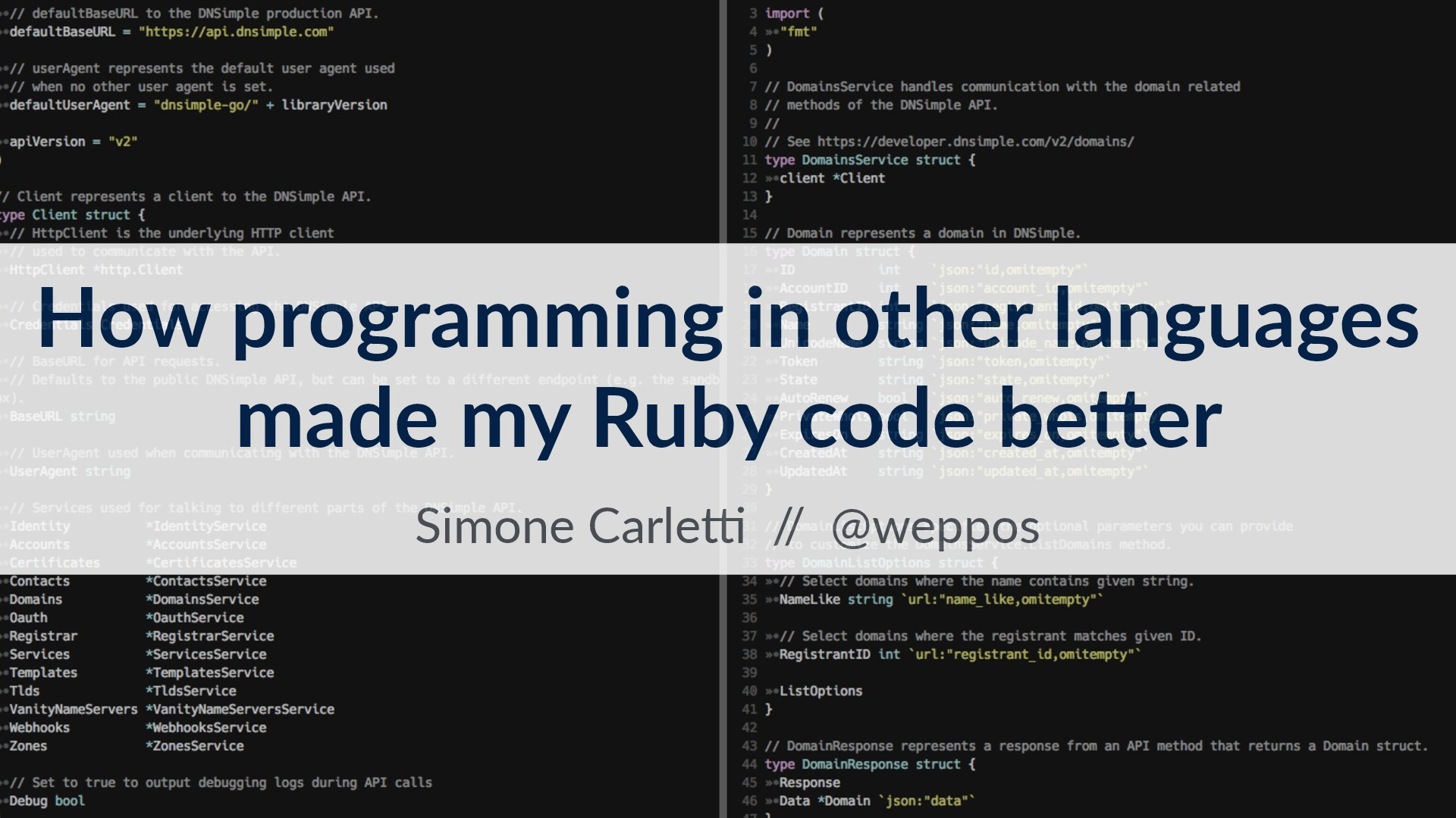 How programming in other languages 
