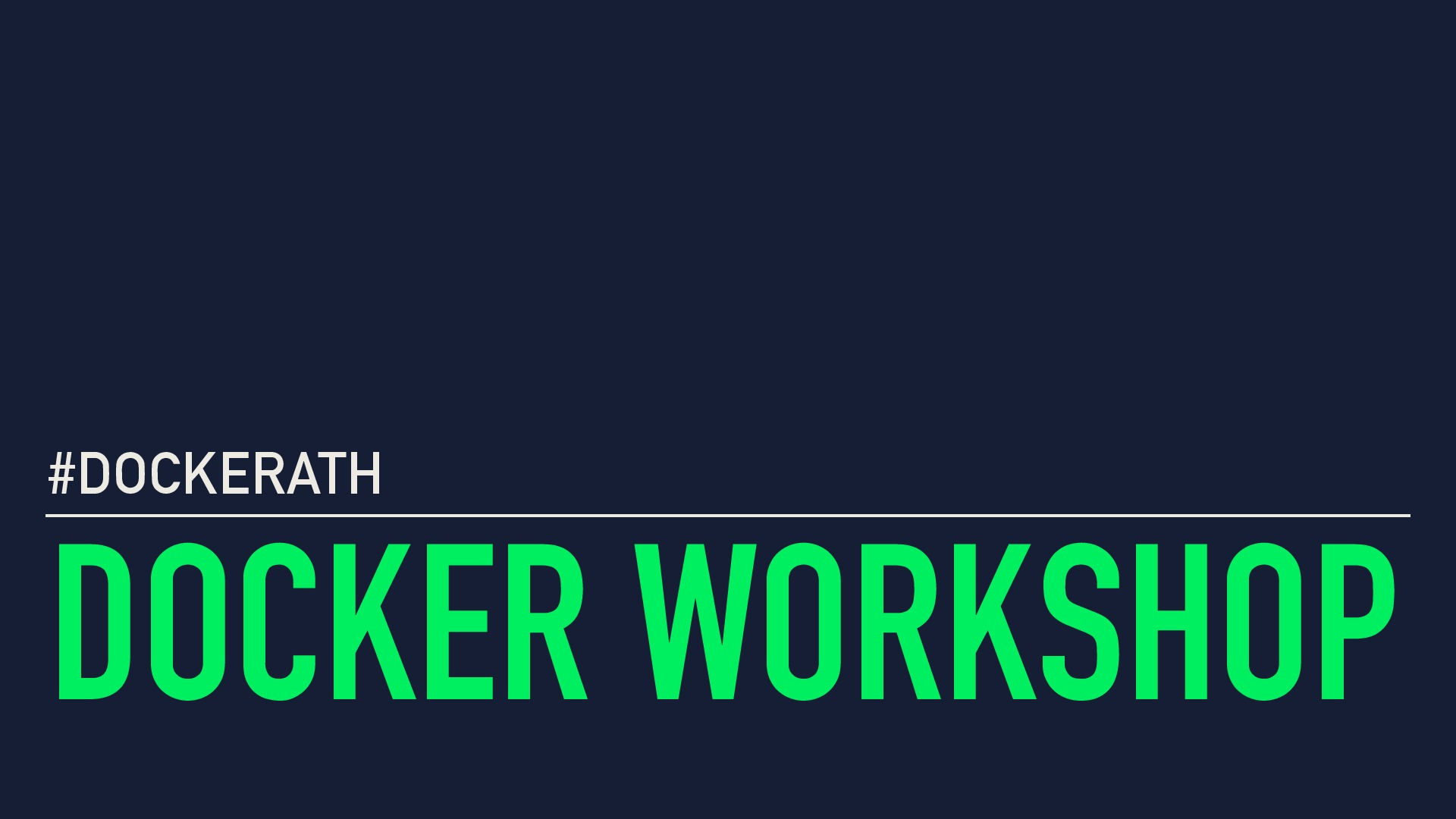 Docker Development to Production Workshop
