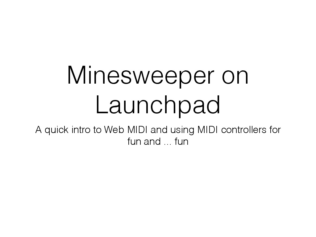 Minesweeper on Launchpad