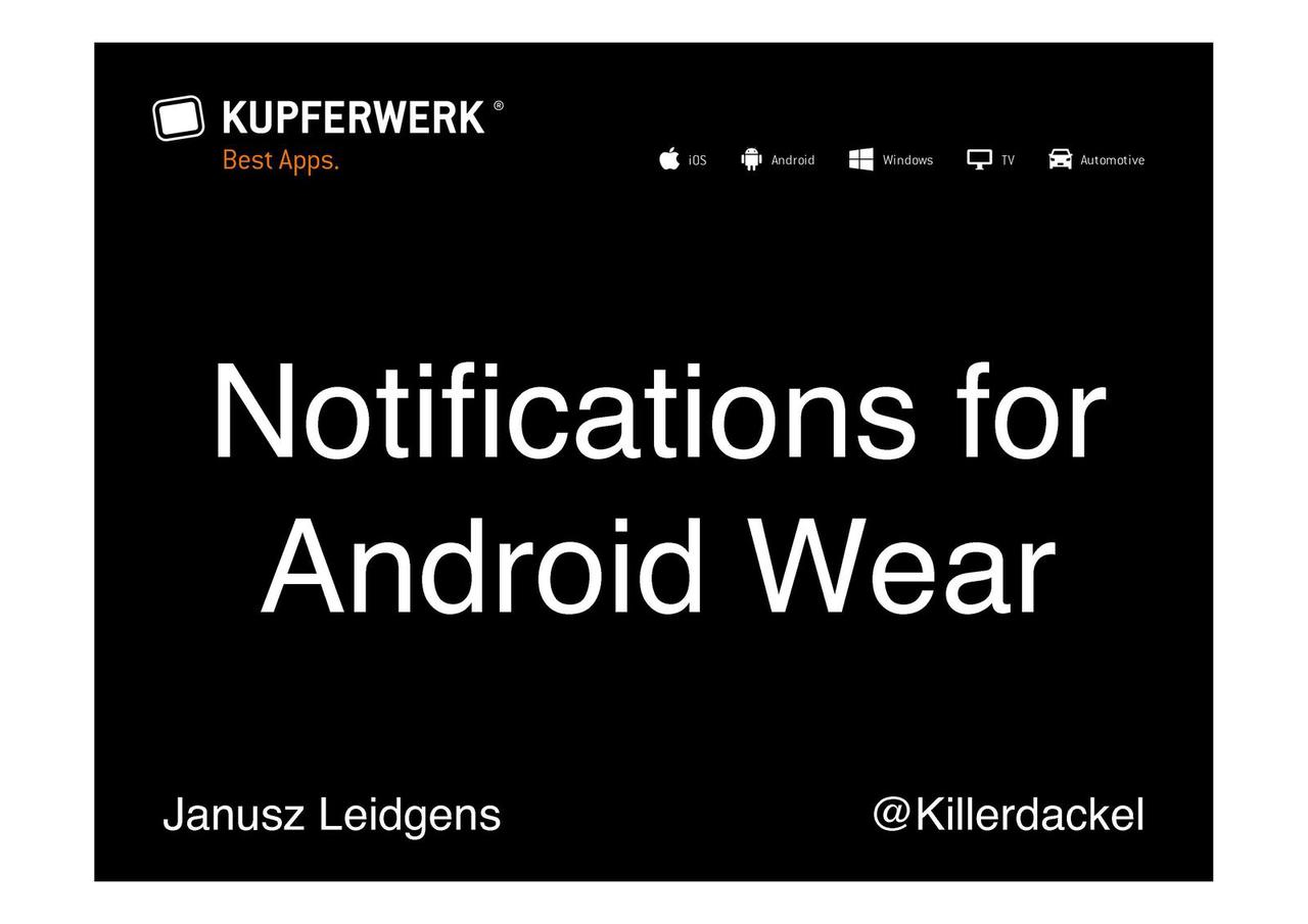 Notifications for Android Wear