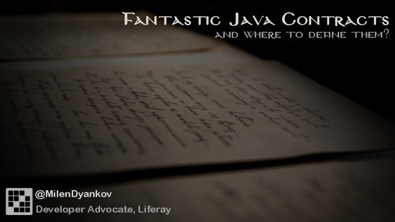 Fantastic Java contracts - and where to define them