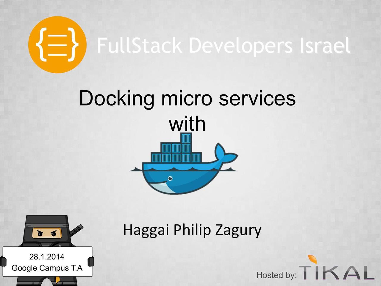 Docking your services with Docker