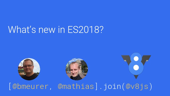 What's new in ES2018?