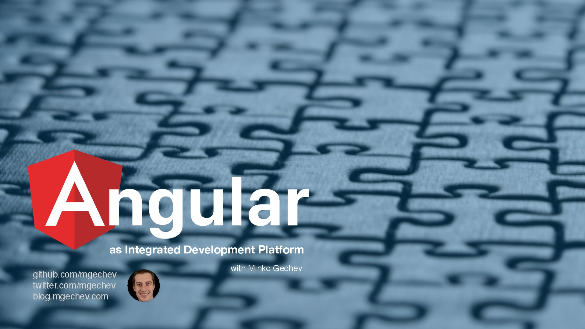 Angular as Integrated Development Platform