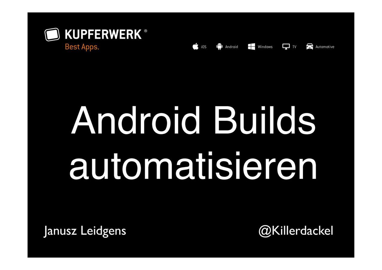 Android Builds automatisieren