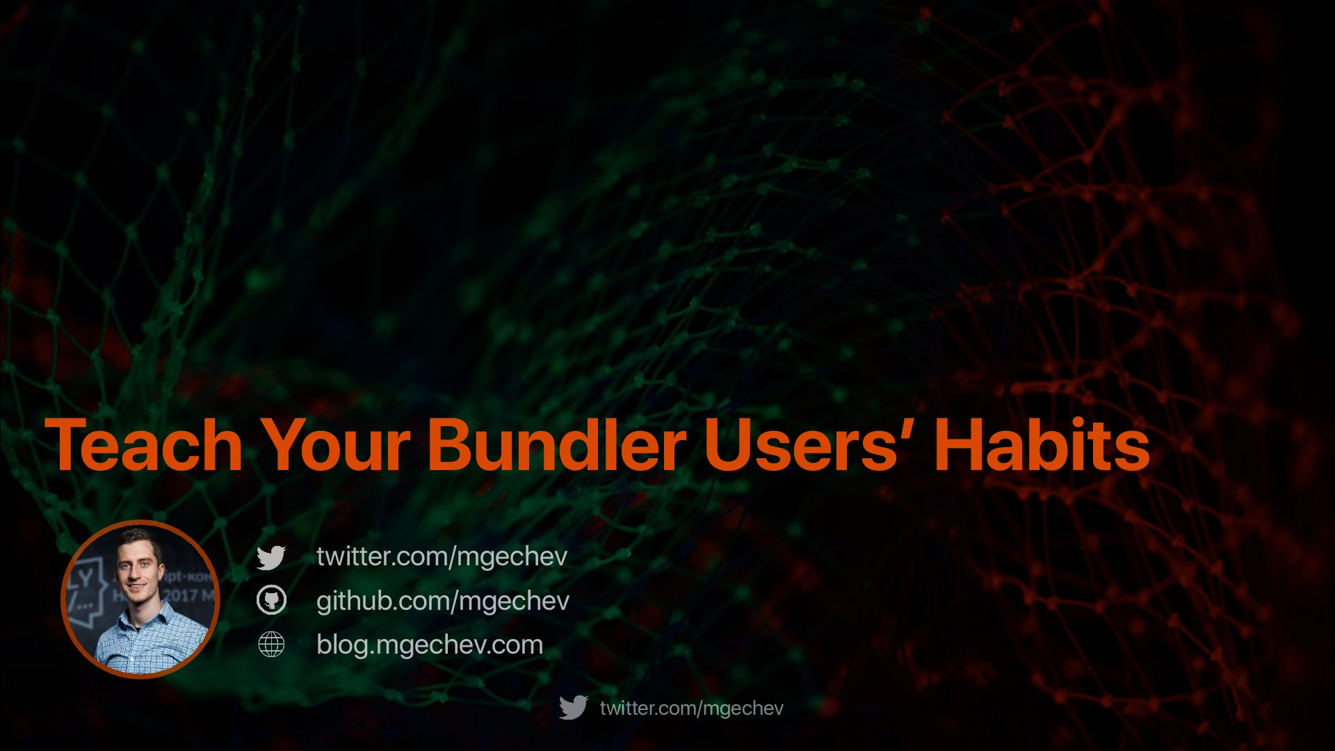 Teach Your Bundler Users' Habits