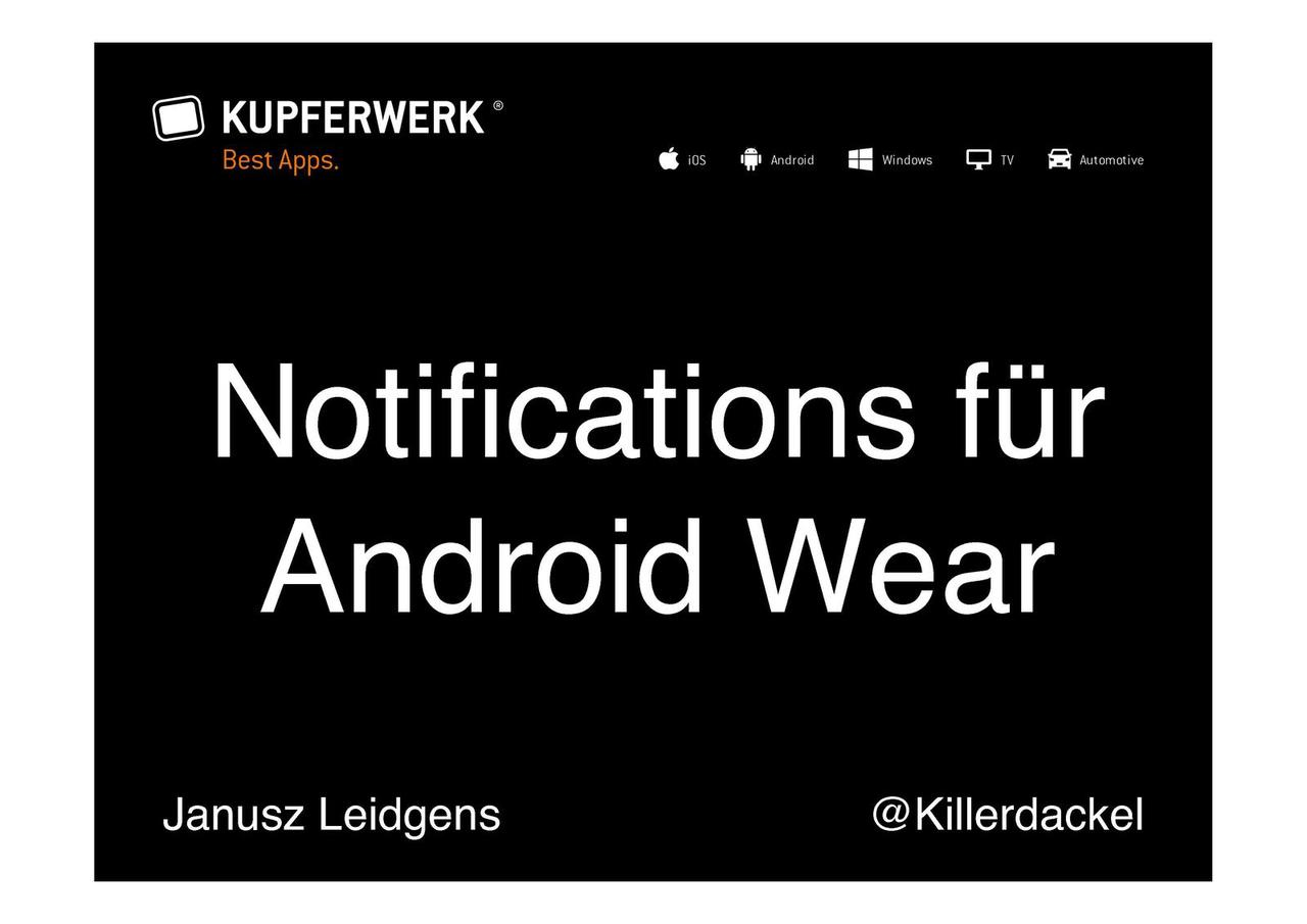 Notifications für Android Wear