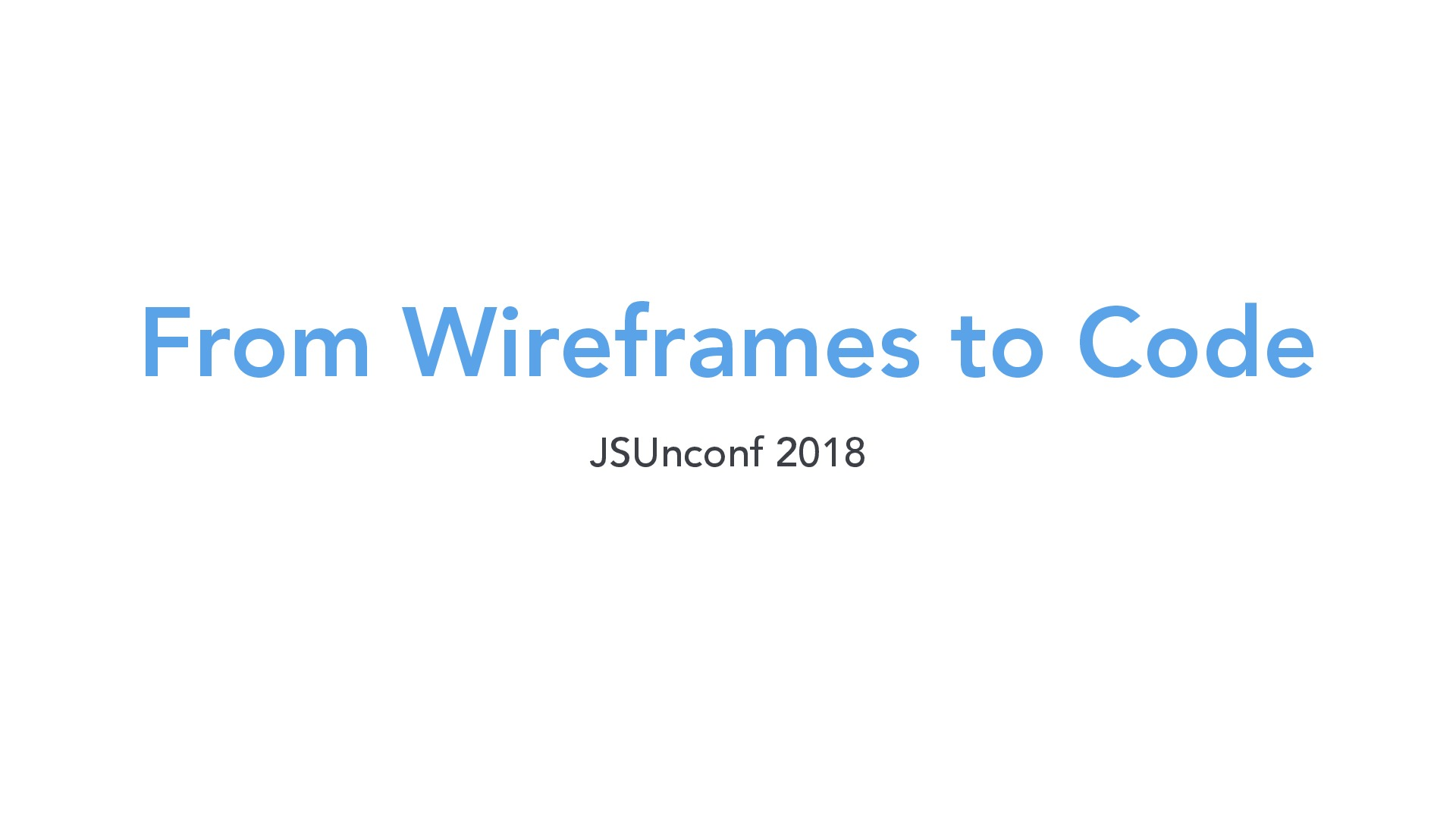 From wireframes to code