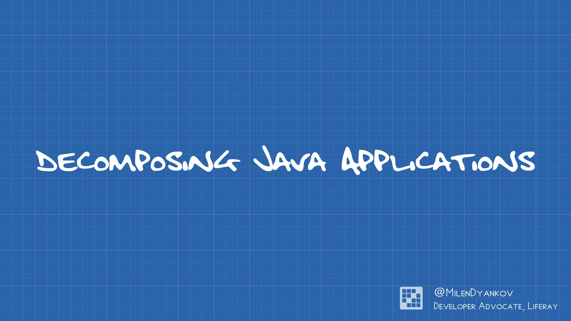 Decomposing Java applications