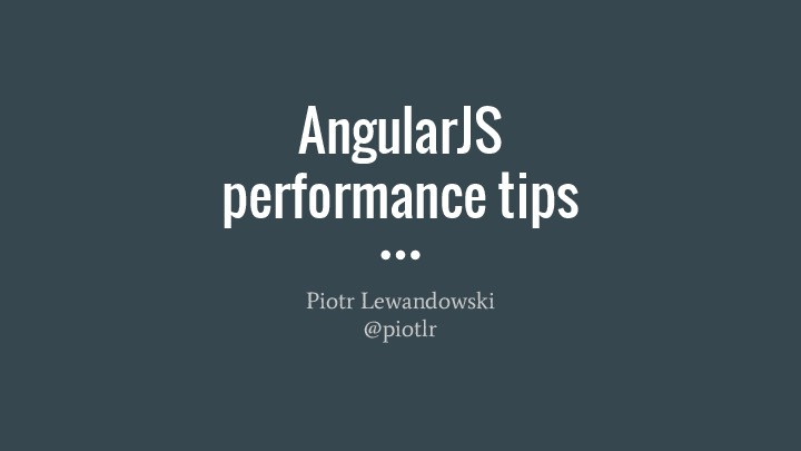 AngularJS performance tips
