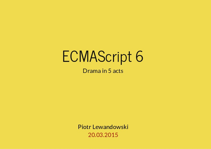 ECMAScript 6 - Introduction
