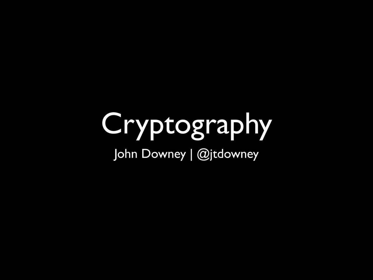 Cryptography at ChicagoRuby