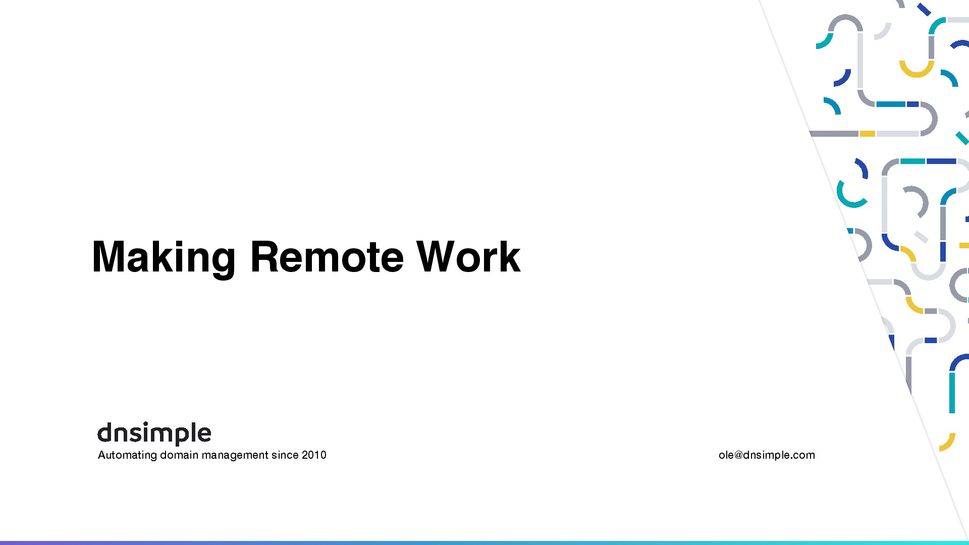 Making remote work
