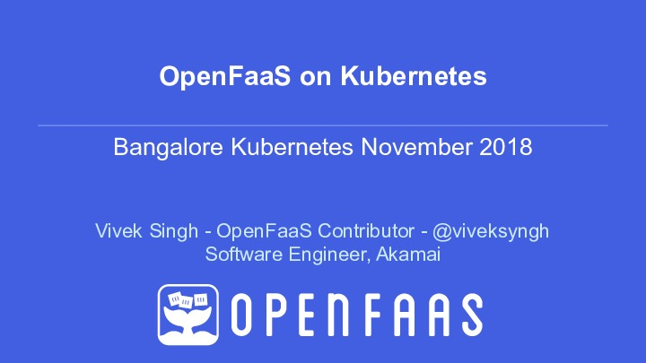 OpenFaaS on Kubernetes