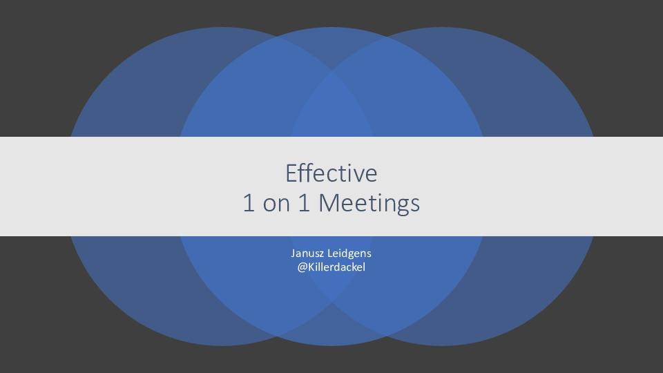 Effective 1 on 1 Meetings