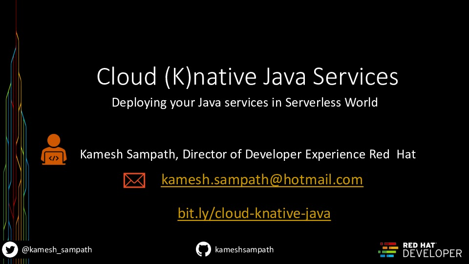 Cloud (K)native Java Services -- Deploying your Java services in Serverless