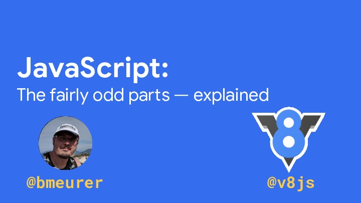 JavaScript: The fairly odd parts --- explained
