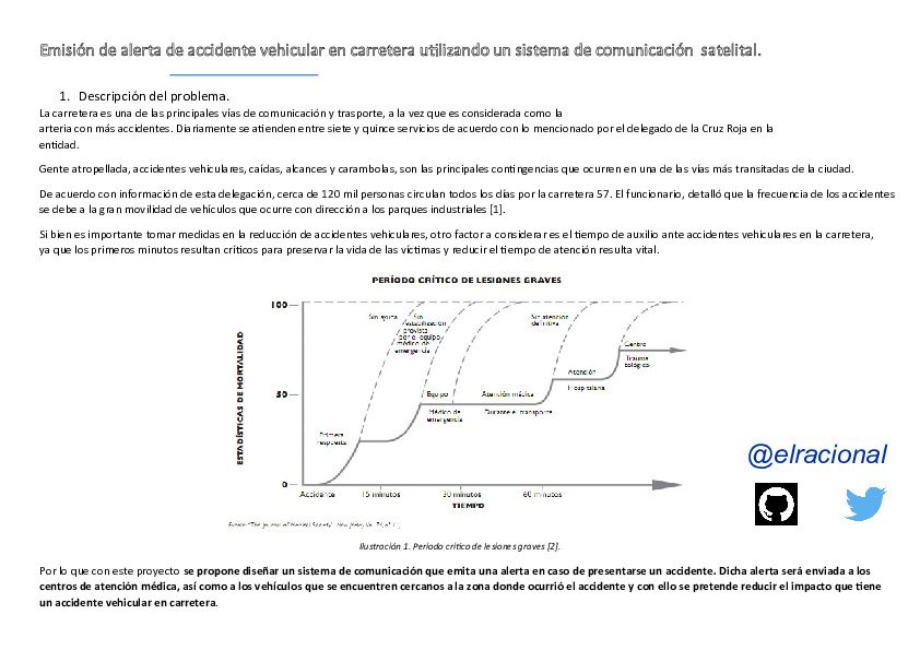 Internet of things: Control de accidentes automovilisticos