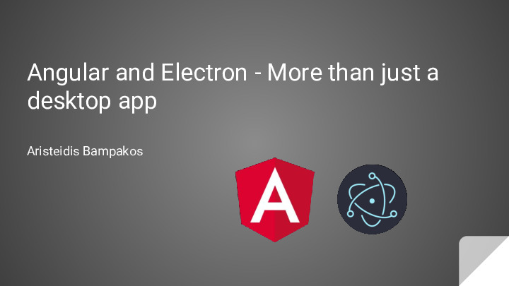Angular and Electron - More than just a desktop app