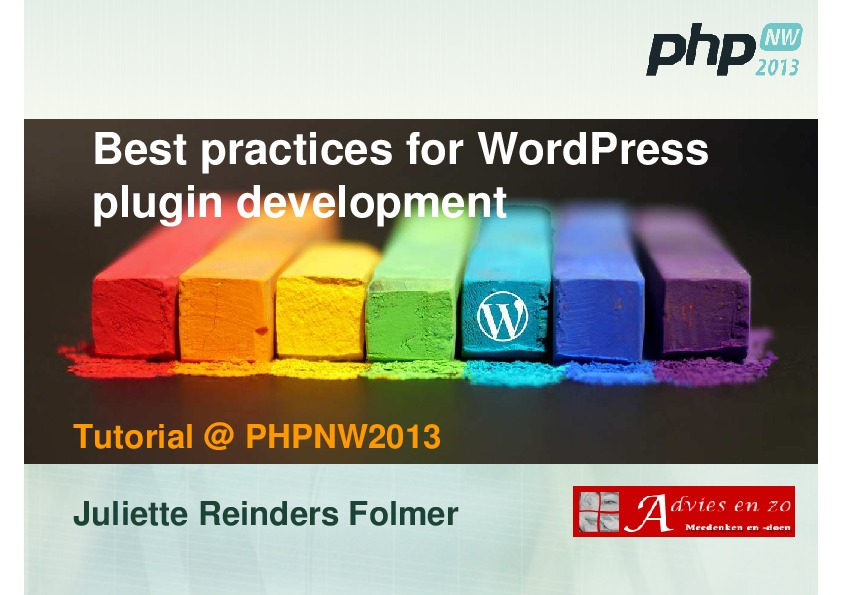 Best practices for WordPress plugin development