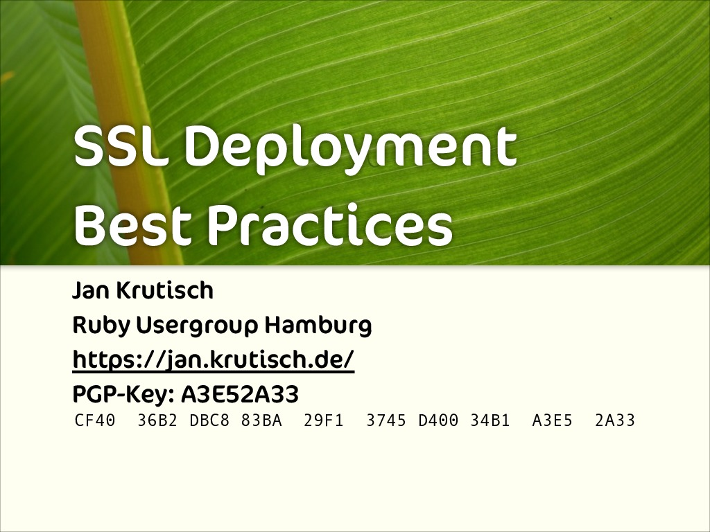 SSL Deployment Best Practices
