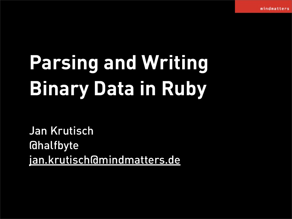 Parsing Binary Data