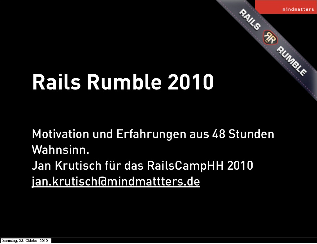 Rails Rumble 2010