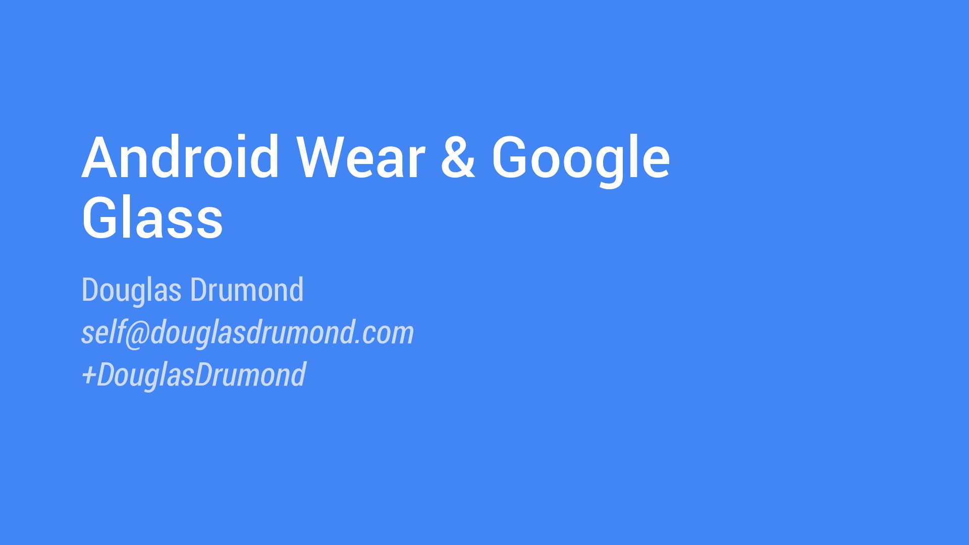 [MobCamp 2014] Android Wear and Google Glass