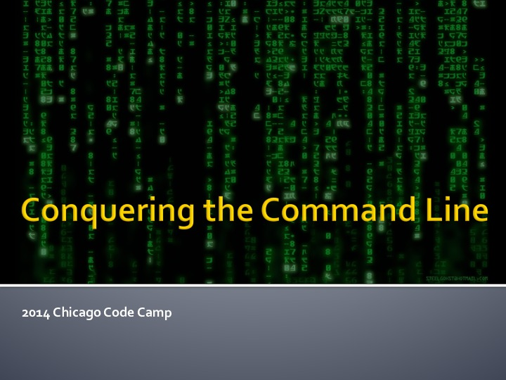 Conquering the Command Line