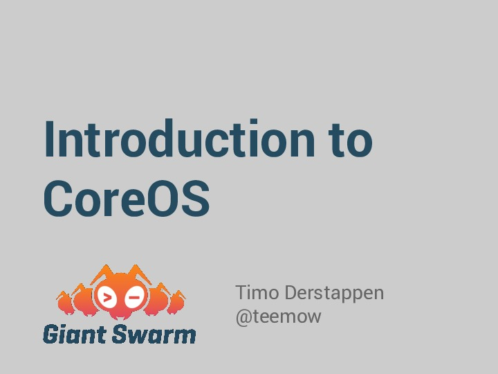 CoreOS @Codetalks