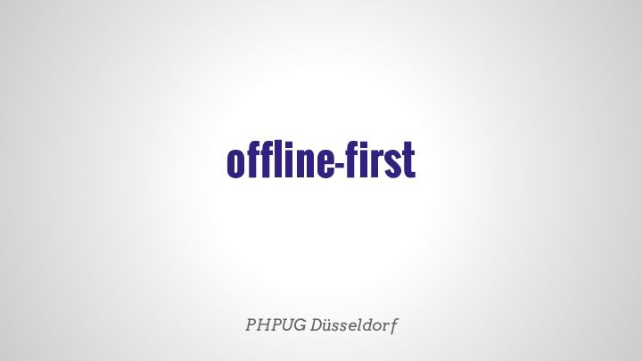 offline first