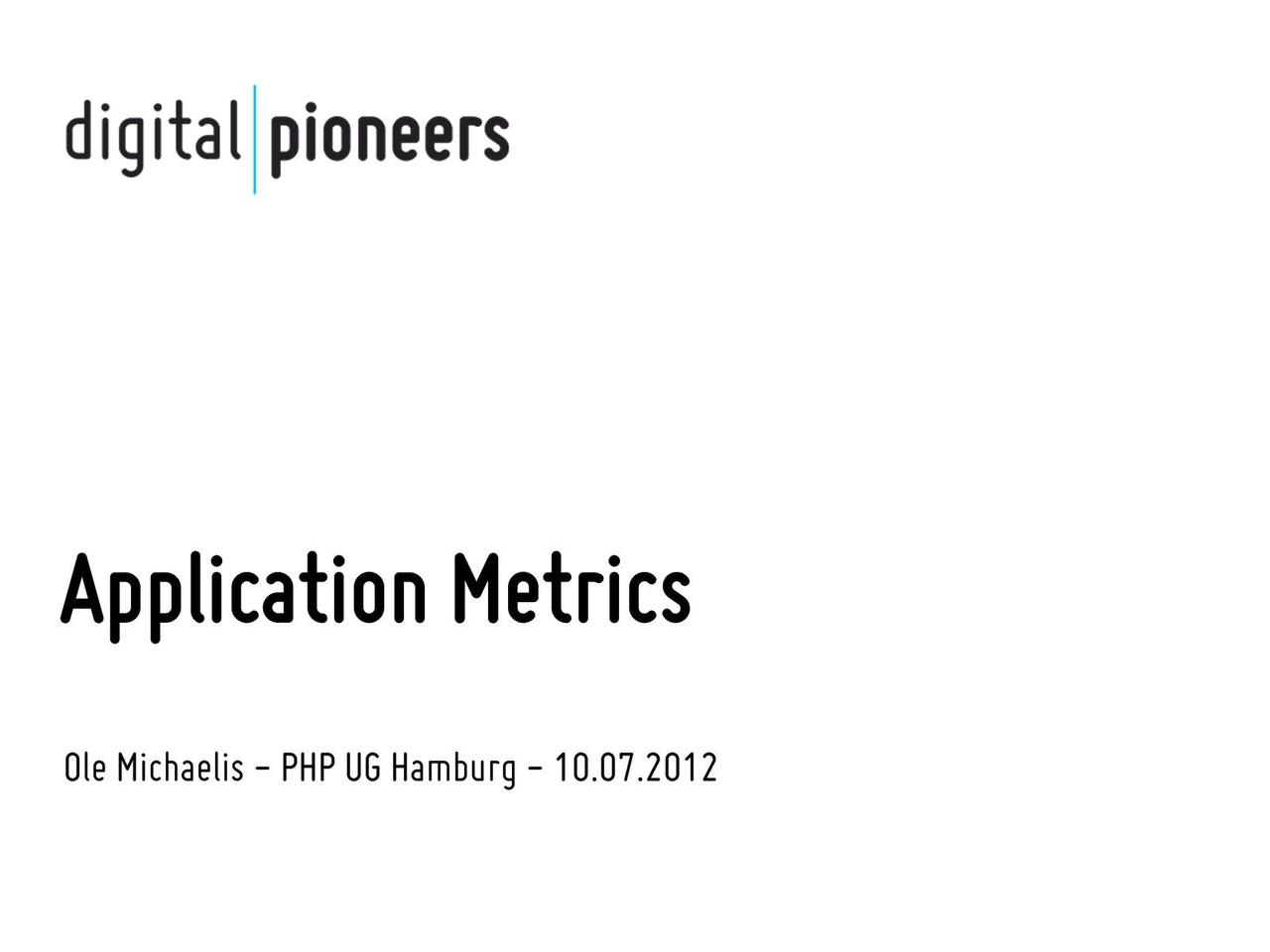 Application Metrics (PHPUGHH)