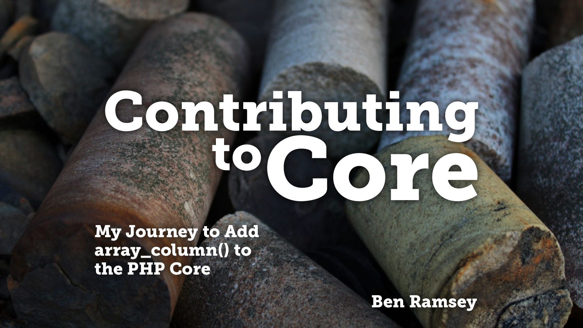 Contributing to Core (True North PHP 2014)