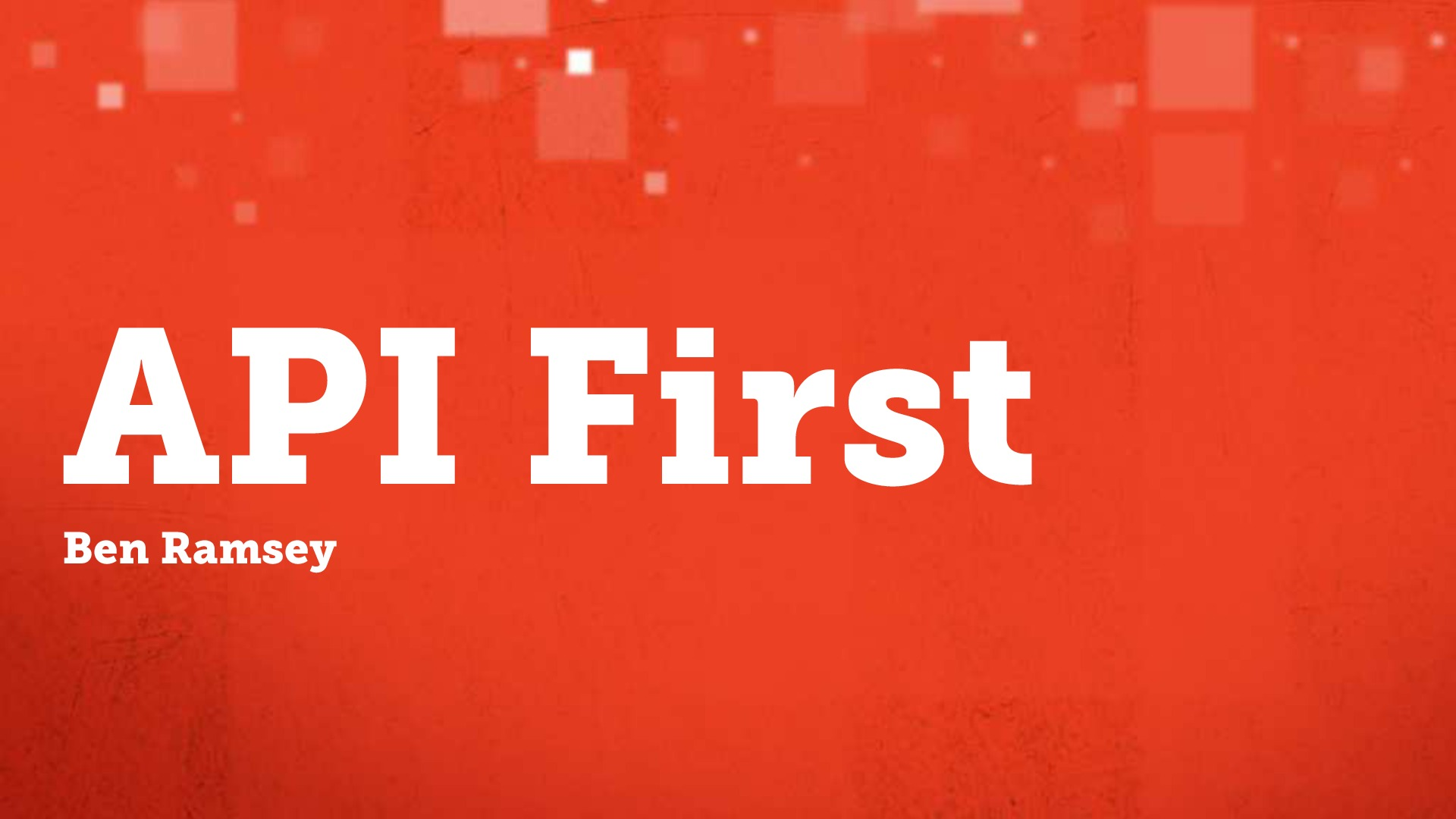API First (ZendCon 2013)