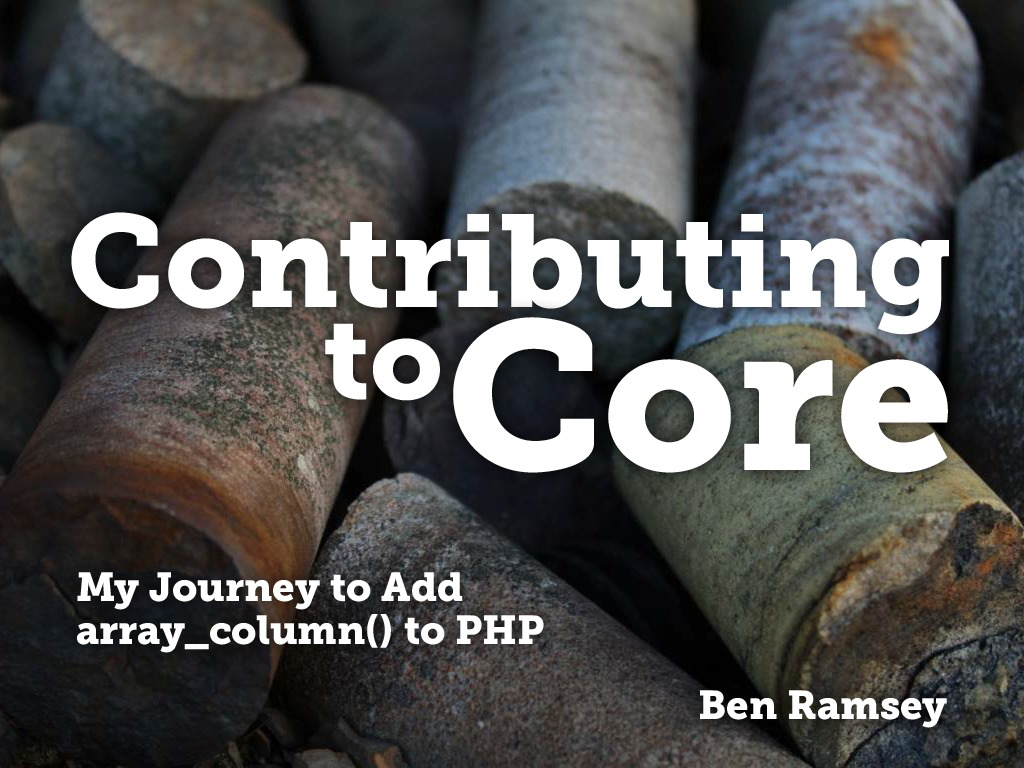 Contributing to Core (ConFoo 2015)