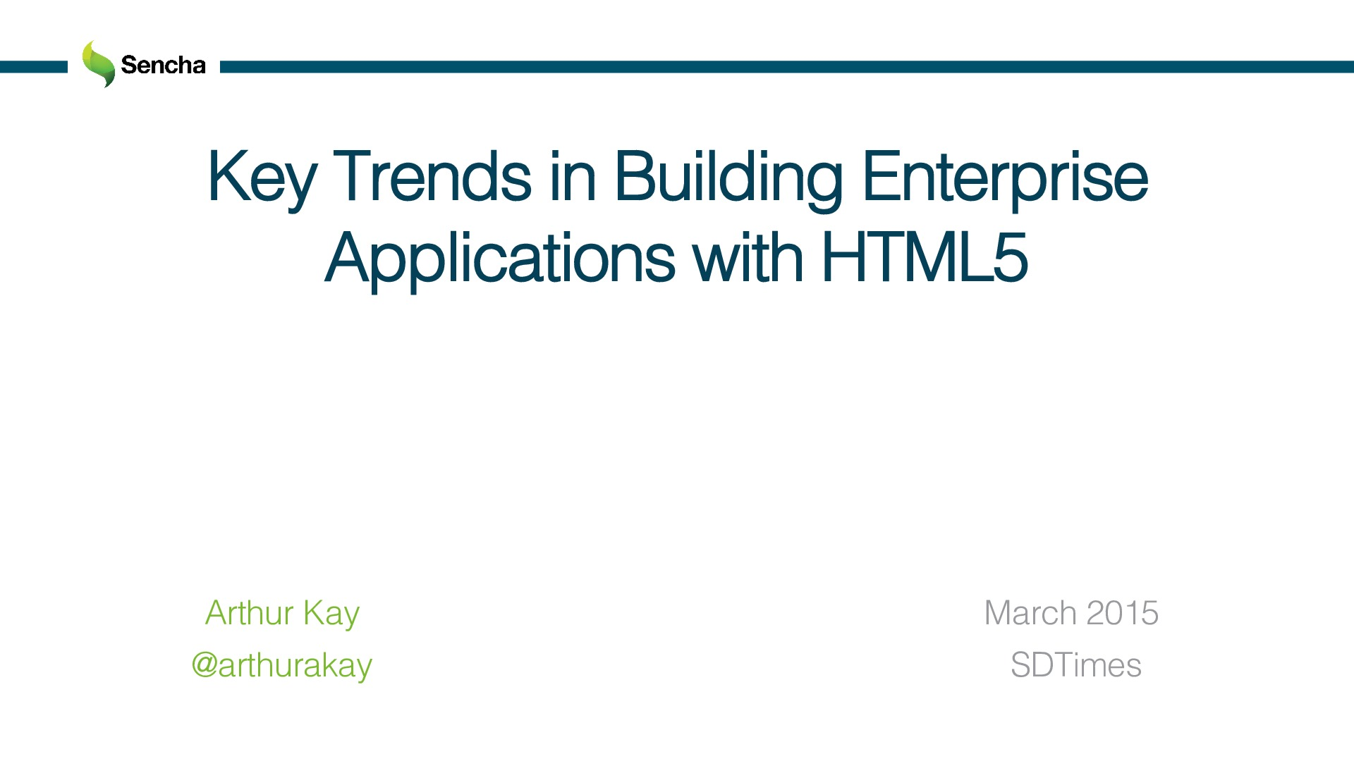 Key Trends in Building Enterprise Applications with HTML5