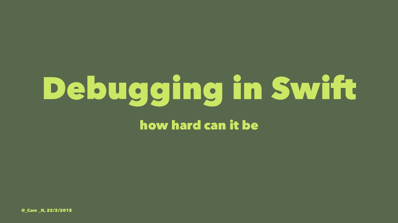 Debugging in Swift