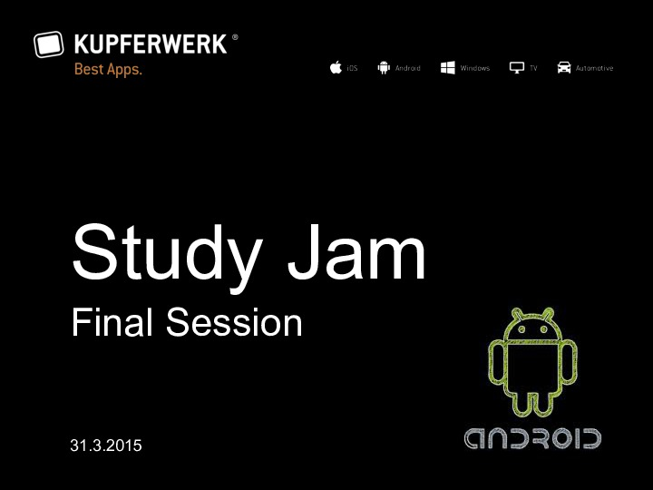 Android Study Jam 7
