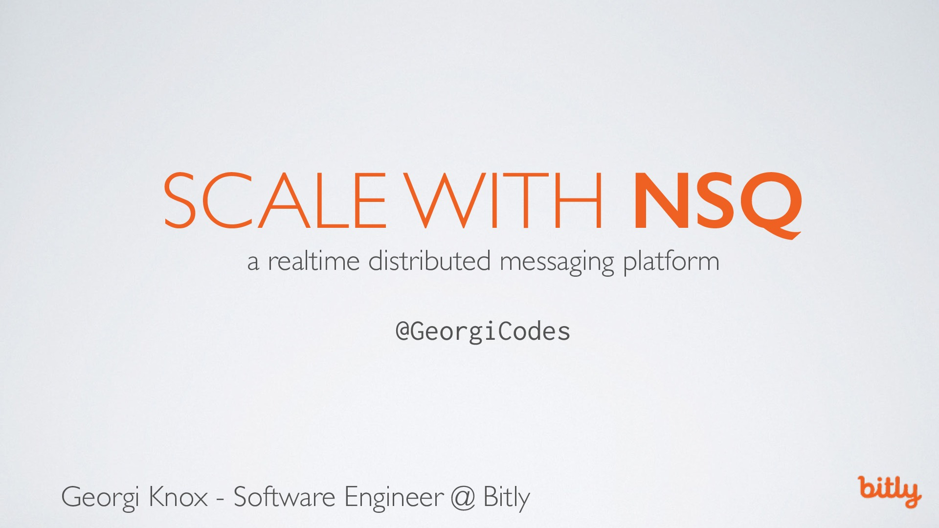 Scale with NSQ