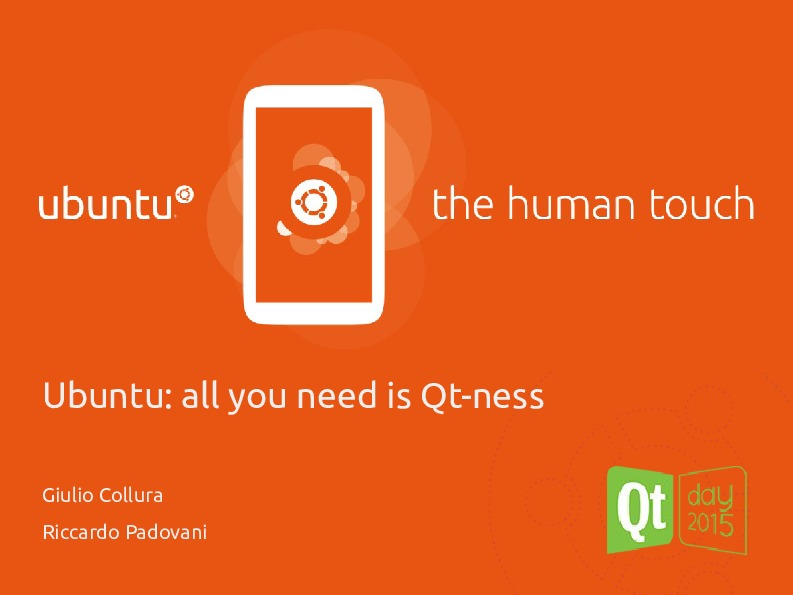 Ubuntu: all you need is Qt-ness