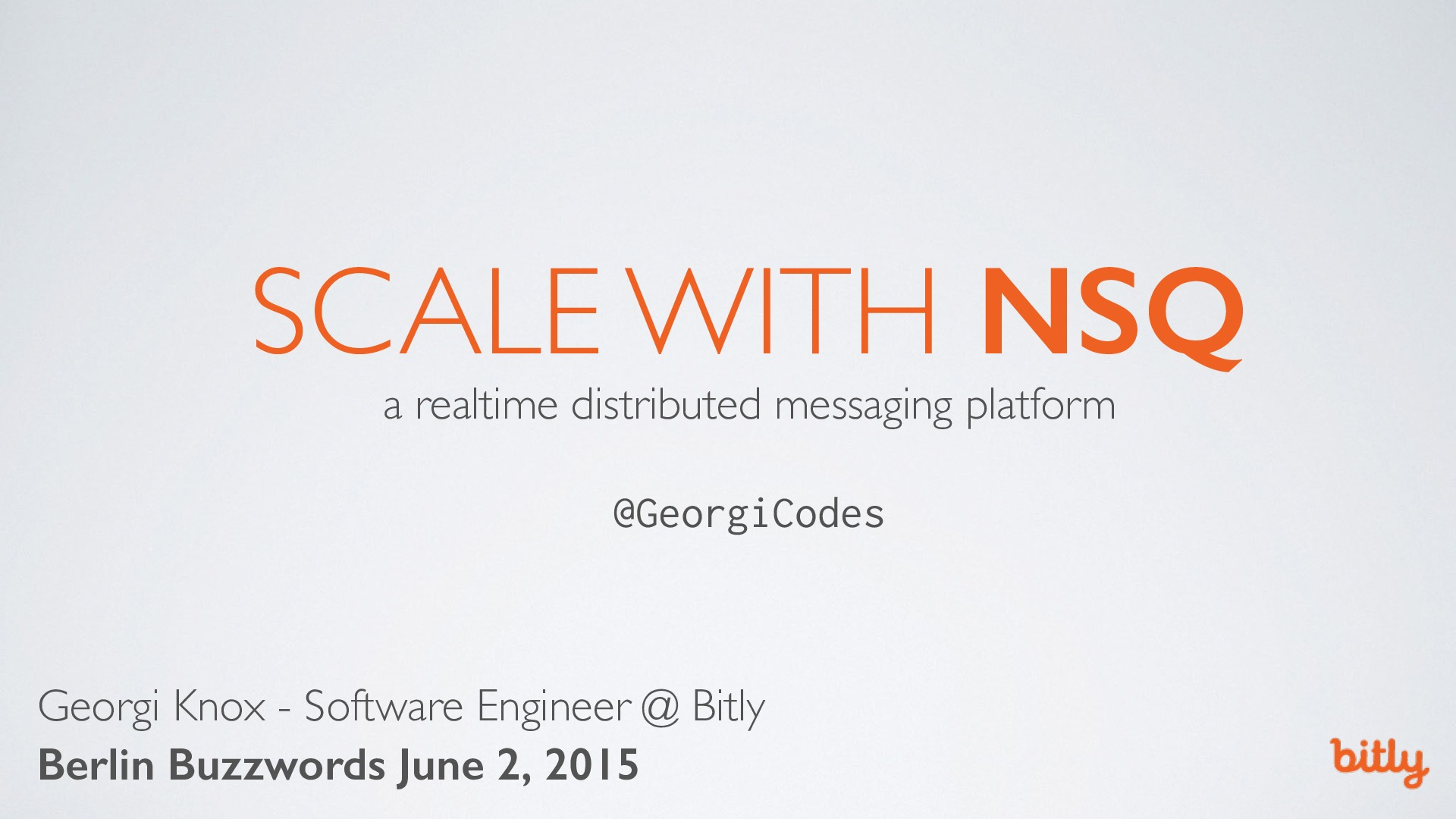 Scale with NSQ: a realtime distributed messaging system