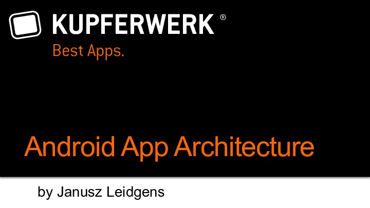 Android App Architektur