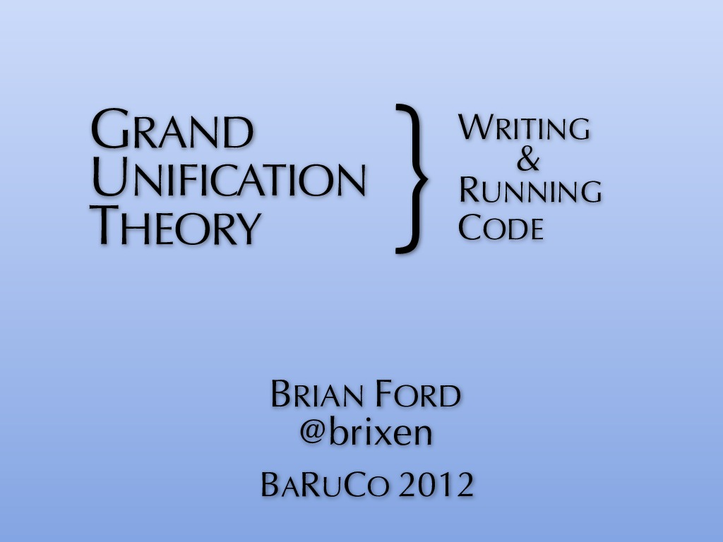 Grand Unification Theory: Writing & Running Code