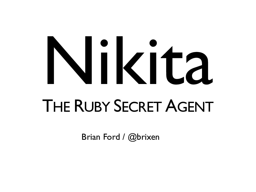 Nikita: The Ruby Secret Agent