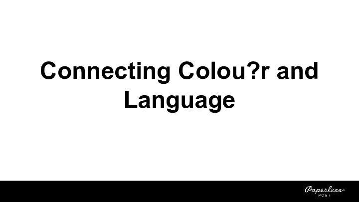 Connecting Color and Language