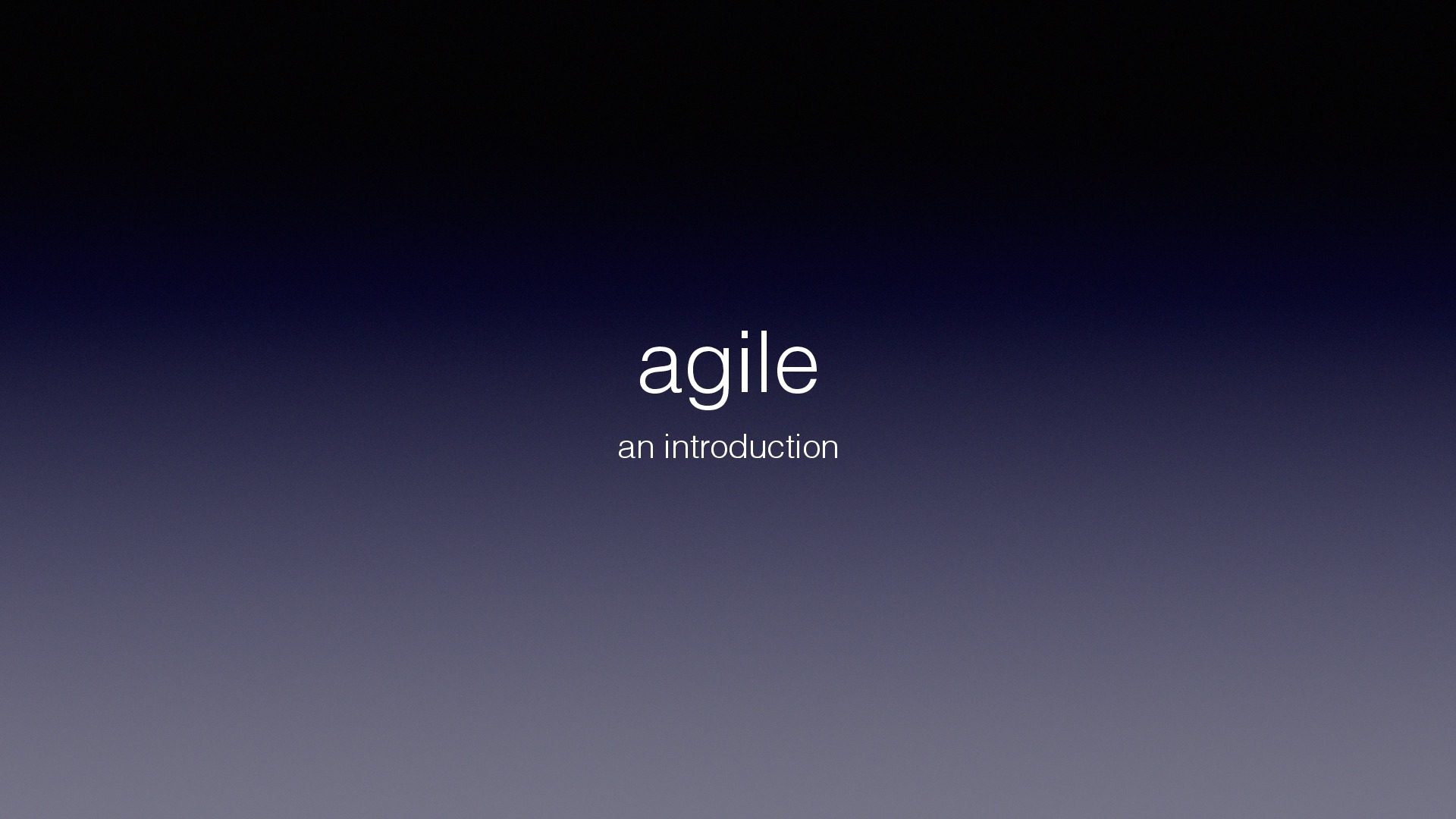 agile an introduction