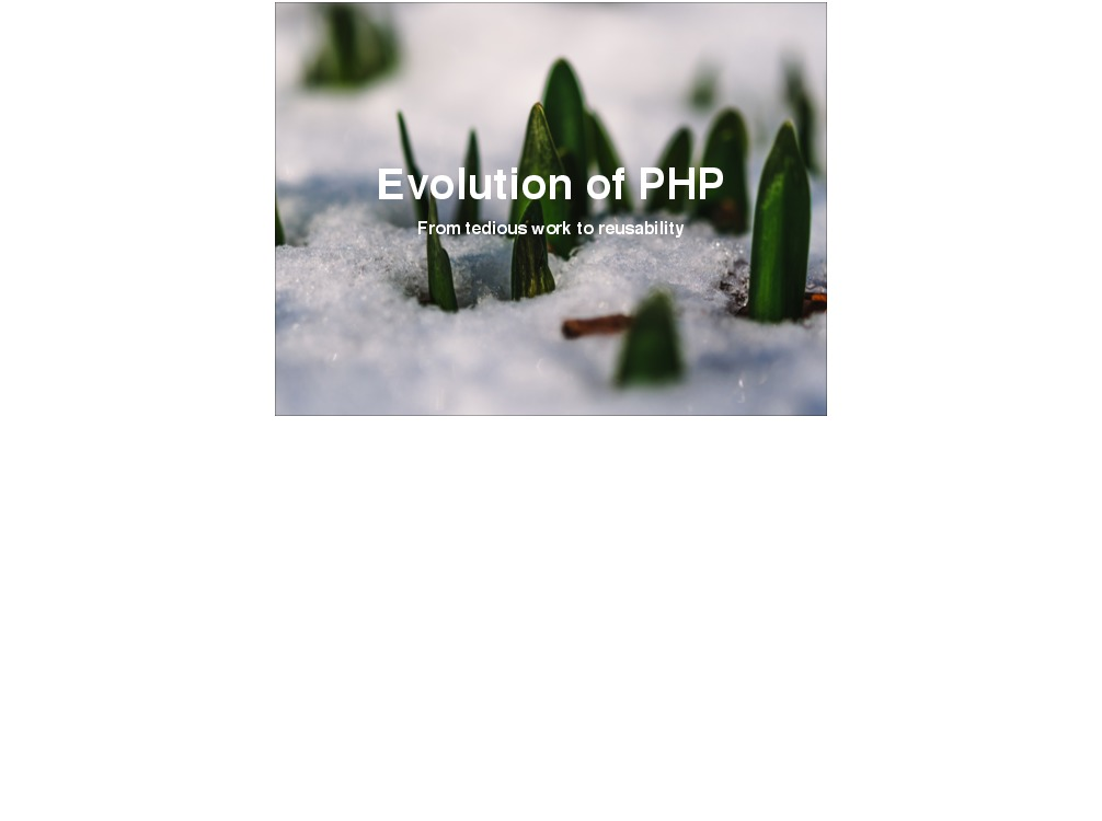 Evolution of PHP